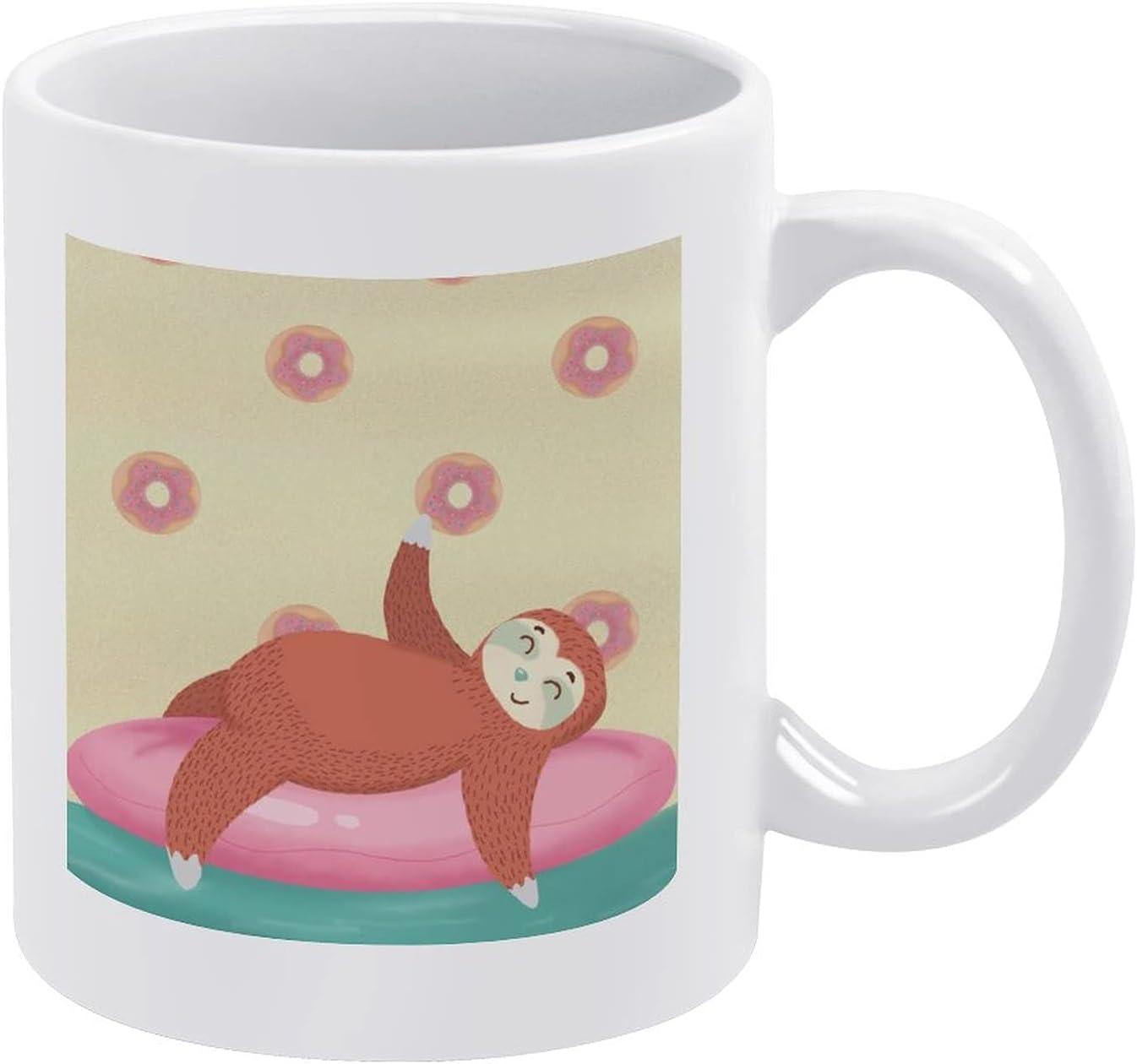 Lazy Credence San Diego Mall Sloth Theme White Mug,Ceramic Cup Coffee Tea Mugs