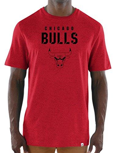 Majestic Chicago Bulls NBA 'Hot Picks' Hombre tri-blend T-Shirt de manga corta, Chicago Bulls, Rojo