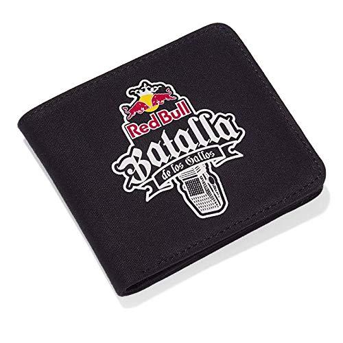 Red Bull Batalla Geldbörse, Schwarz Unisex Portemonnaie, Batalla de los Gallos Hip Hop Freestyle Original Bekleidung & Merchandise