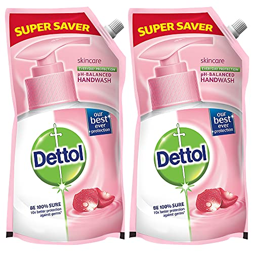 Dettol Germ Protection Handwash Refill – 750 ml (Skincare, Pack of 2)