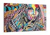 Cuadro sobre lienzo - Impresión de Imagen - mujer folklore - 100x70cm - Imagen Impresión - Cuadros Decoracion - Impresión en lienzo - Cuadros Modernos - Lienzo Decorativo - AA100x70-3427