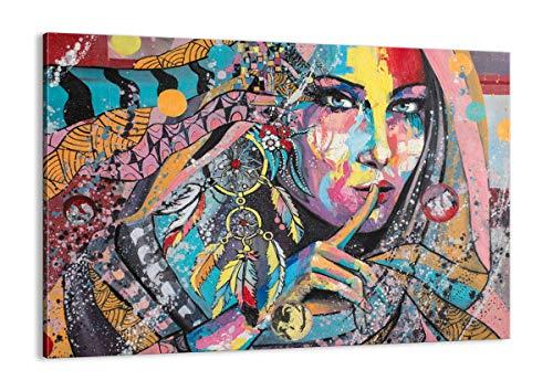 ARTTOR Cuadros Modernos Baratos - Lienzos Decorativos - Cuadros Decoracion Salon - Tríptico De Pared - Muchos Tamaños y Varios Temas Gráficos - AA100x70-3427