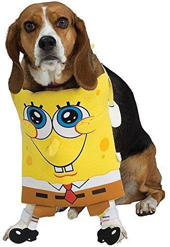Fancy Me Haustier Hund Katze Tier Spongebob Squarepants Halloween Kostüm Kleid Outfit S-XL - Medium