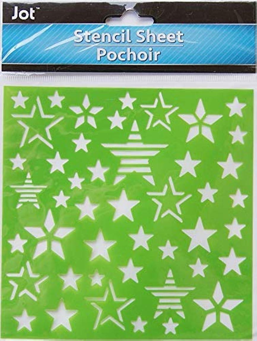 Adhesive Multi-Media Stars Stencil Sheet - 6 x6 Inches mpfdxym922423