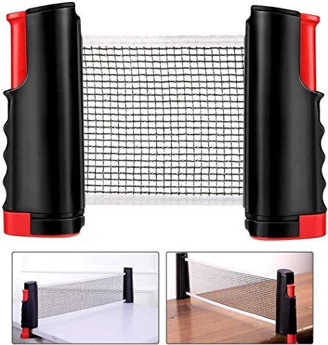 Red de tenis de mesa rejilla de recambio red de tenis de mesa escalable mesa de tenis de mesa portátil mesa de tenis de mesa mesa de oficina mesa de comedor accesorios de red multifunción 190 x 15