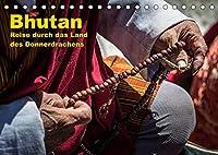 Bhutan - Reise durch das Land des Donnerdrachens (Tischkalender 2022 DIN A5 quer): Eine Reise durch das faszinierende Land am Fusse des Himalayas (Monatskalender, 14 Seiten )