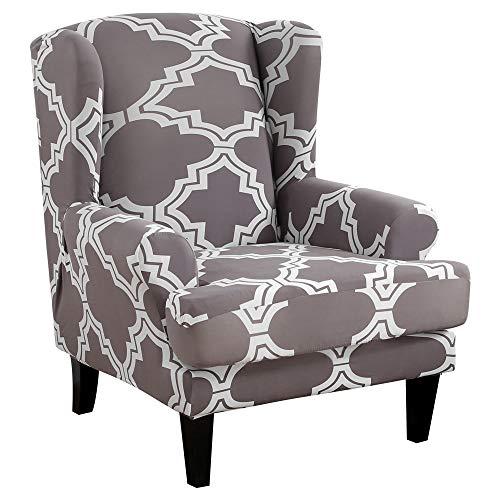 NIBESSER Sessel-Überwürfe Ohrensessel Überzug Bezug Sesselhusse Elastisch Stretch Husse für Ohrensessel (Breit 70-80 cmxHoch 95-110 cm) (Z-Muster10)