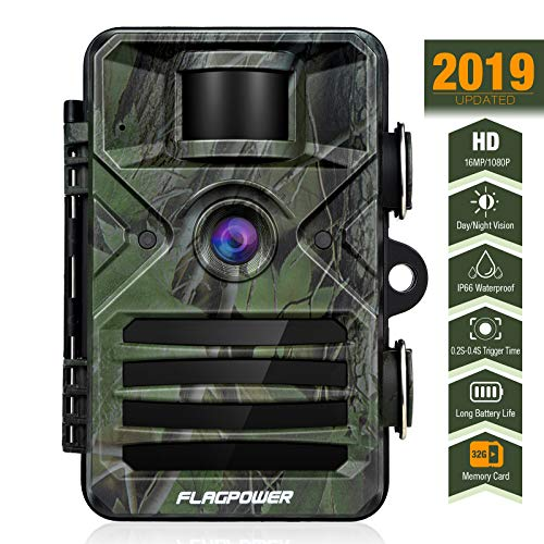 FLAGPOWER Trail Game Camera with Night Vision Motion Activated 16MP...