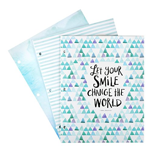 DaySpring Sadie Robertson's Fashion Folders, Let Your Smile Change The World, 3 Count