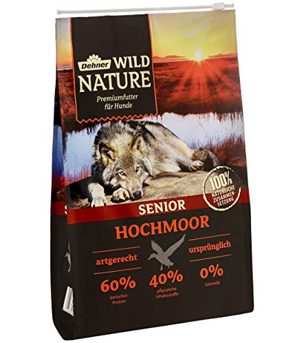 Dehner Wild Nature Hundetrockenfutter Senior, Hochmoor, 4 kg