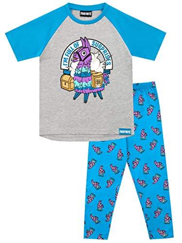 Fortnite Pijamas de Manga Corta para niños Llama Multicolor