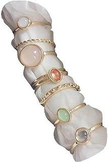 8 Stücke Vintage Punk Ringe Set Joint Knuckle Ring Stapelbare Fingerringe Retro Schmuck Geschenk Für Mädchen Frauen