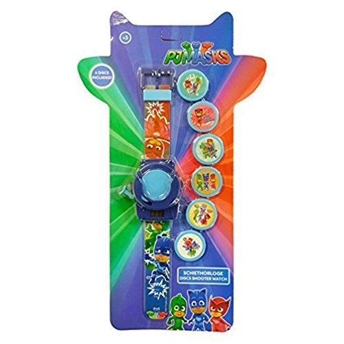 2in 1PJ Masks bambini orologio digitale con disco Shooter giocattolo