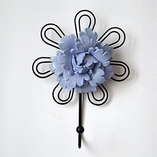 Haak van de Europese decoratieve haakjes-kleerhaken achter de creatieve haak van de deur blauw 1