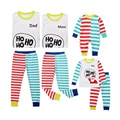Material:Cotton Blend,very soft and comfortable to wear. Father Size:S,M,L,XL,XXL Morther size:S,M,L,XL Kids size:100/110/120/130 Baby size:70/80/90/100 Occasion:Very Great for Halloween Party,Sleeping,Travel,Family Talking,Daily Casual Wearing. The ...