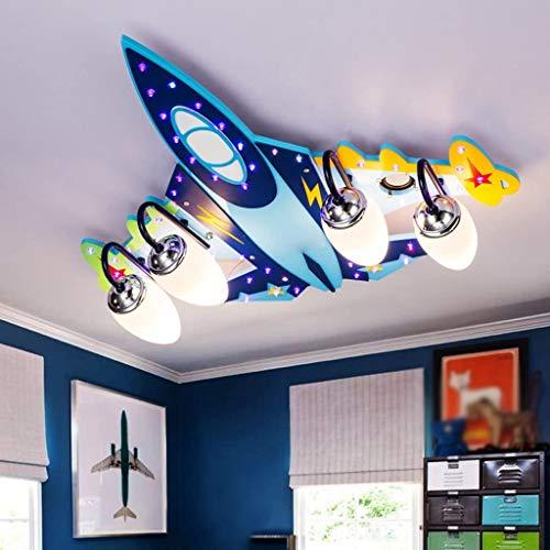 Ali Kinderzimmer Deckenlampe Jungen Kreative Flugzeug Lichter Schlafzimmer LED Augenschutz Mädchen Karikatur Raum Lichter/E14 * 3/4 (größe : 70 * 65 * 15CM)