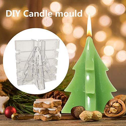 Seasons Shop vorm voor kerstkaarsen, kerstboom, kaars, vorm van kunststof, in de vorm van een kruisje, kerstboom, knutselen