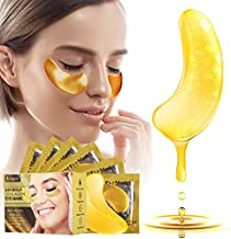 SKINER Gold Under Eye Patches, 20 Pairs Under Eye Treatment Masks for Dark Circles, Anti-Aging Under Eye Pads for Reducing Puffy Eyes Wrinkles Eye Bags, Collagen Treatment Moisturizing Gel Bags