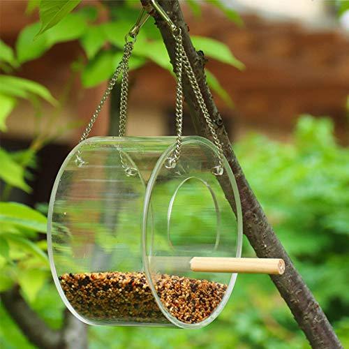 lijun Forma Simple del diseño del balcón al Aire Libre del comedero de pájaros Colgante cilíndrico Creativo