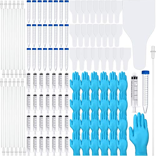 Weewooday 125 Pieces AI Artificial Insemination Dog Breeding Kit Disposable Canine Artificial Insemination Cones Dog Semen Collection Bag for Dog Pet Canine Breeder
