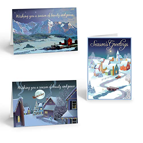 Assorted Christmas Cards - 18 Traditional Christmas cards and envelopes
