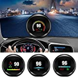 ACECAR Universal Car HUD Dual System Head Up Display Digital OBD/GPS Speedometer with Test Brake Throttle Intake Temperature Engine Load HD LCD Refitting Code Table Display
