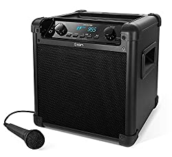 ION - Audio Tailgater Mobile 50W Bluetooth Speaker System with Microphone & Radio I Outdoor Speaker I Music Box with Microphone I Sound System I Integrated USB Powerbank I Rechargeable I Black