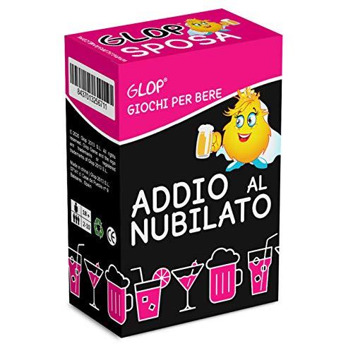Glop Addio al Nubilato - Giochi per Bere - Giochi Alcolici - Futura Sposa per Festa Addio al Nubilato - Giochi da Tavolo per Adulti - 100 Carte