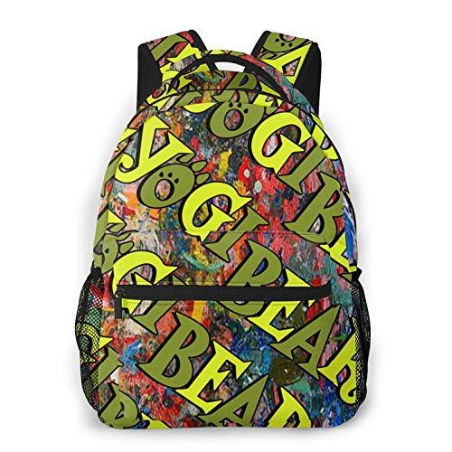 Hdadwy Yogi Bear Backpack for Men and Women 11.5 X 16 X 8 in Bag Water-Resistant Satchel