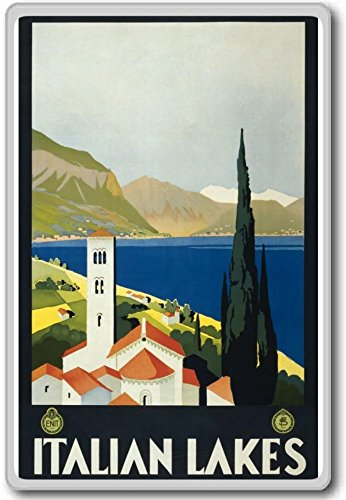 Italian Lakes, Italy, Europe Vintage Travel Fridge Magnet