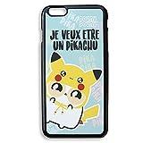 Chamalow Shop Coque pour iPhone 6 Plus Je Veux être Un Pikachu Pokemon Chibi, Kawaii et Pastel -...