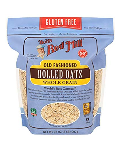 Bob's Red Mill Gluten Free Old Fashion Rolled Oats, 32 Oz (Pack of 4)
