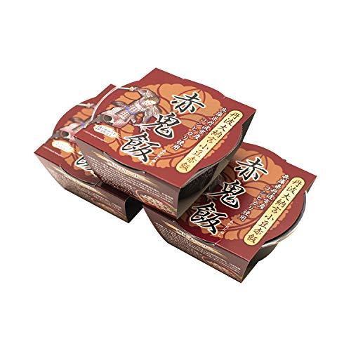 [赤鬼飯] 丹波 大納言 小豆 赤飯 レトルト パック もち米入り レンジ 2分 麒麟がくる お中元 丹波の赤鬼 160g×3個