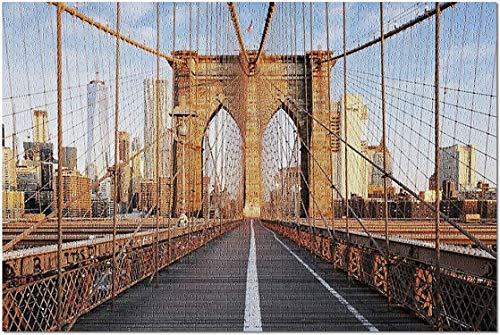 Nueva York, NY   Puente de Brooklyn al Amanecer 9002484 (Rompecabezas para Adultos) 1000 Piezas
