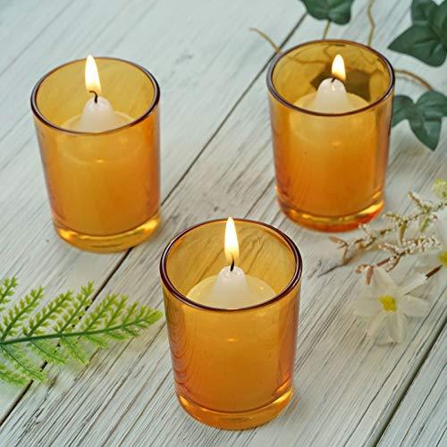 112 Pack of Amber Glass Votive Candle Holder Set - 2.5'