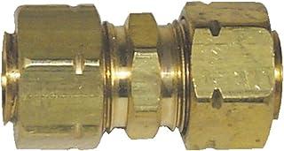 Parker 62CA-8 Compress-Align Brass Union Fitting - 1,27 cm NPTF x 1,27 cm NPTF