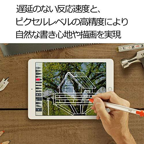 ロジクールデジタルペンシル2018年以降のiPadシリーズに対応CrayoniP10シルバー7時間バッテリーiPad/iPadPro/iPadAir/iPadmini対応国内正規品2年間無償保証