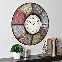 FirsTime & Co. Patchwork Wall Clock, 20.5, Multicolor