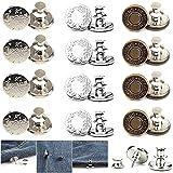 Botones Desmontables Vaqueros, Botones para Pantalones, Botones Perfectos de Repuesto, Pueden Aumentar o Disminuir la Cintura de Cualquier Pantalón en 1 Pulgada en Unos Pocos Segundos, 12 Piezas