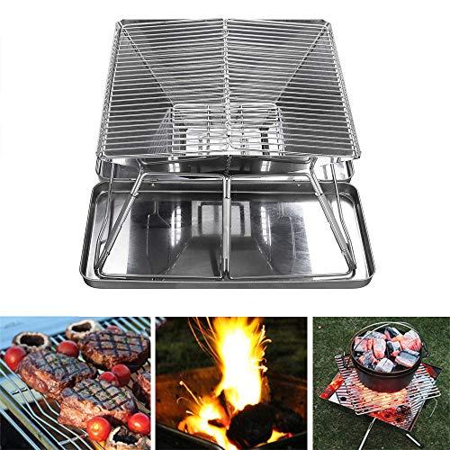 51RWj Nm1cL. SL500  - YWZQ Outdoor-Holzkohle BBQ Grill, Schärfen Edelstahl Folding BBQ-Grill-Zubehör Mobile Home Küche Camping Kochen Werkzeuge
