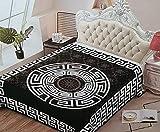 Tagesdecke Bettüberwurf 220x240 cm 4,5Kg Sofa Überwurf Bettdecke Kuscheldecke (Schwarz)