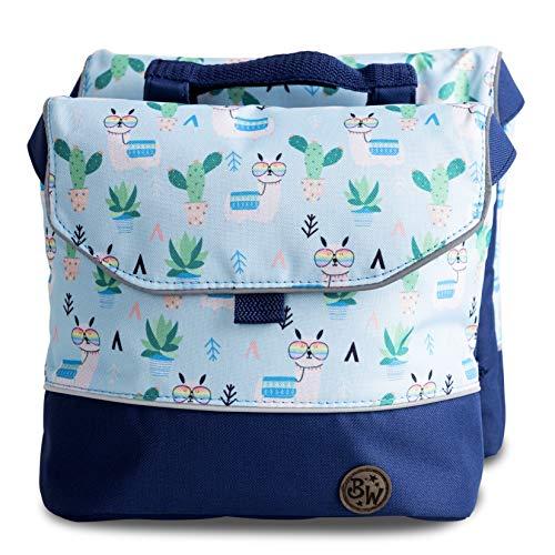 BambinIWelt Gepäcktasche, Gepäckträgertasche für Fahrrad, Fahrradtasche für Kinder, wasserabweisend, z.B. für alle Puky Räder (Modell 28)