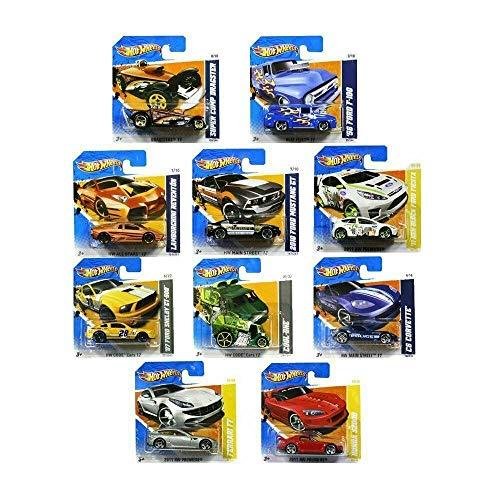 Set of ten random Hot Wheels cars by Hot Wheels