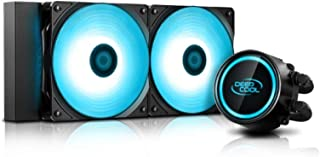 DEEPCOOL Gammaxx L240 V2 AIO Liquid CPU Cooler Anti-Leak Technology Inside SYNC RGB Waterblock and RGB Fans Motherboard Co...