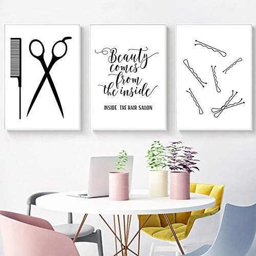 Hair Salon Wall Art Beauty Salon Pictures Wall Decor Fashion Canvas Art Beauty Shop Wall Art product image