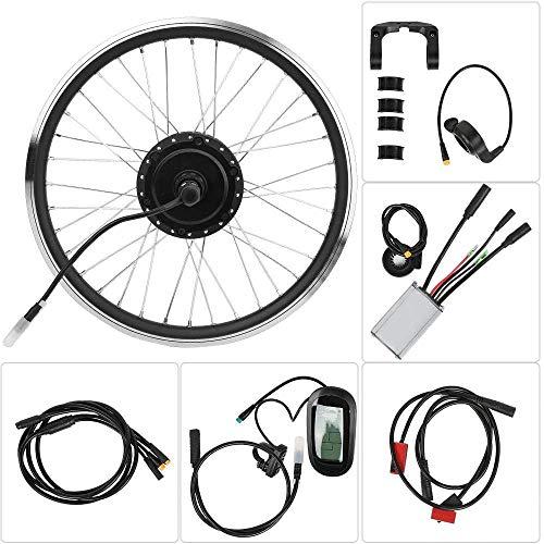 ZLM Elektro-Fahrrad Umbausatz KT-LCD6 LCD Fahrrad-Umwandlungs-Elektro-Kit Instrument Fahrrad-Gebirgsfahrrad-Umwandlung Wasserdichtes Elektrosatz,Front Drive