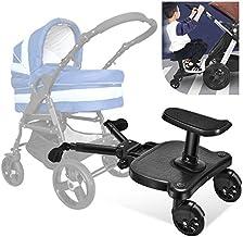 TOPQSC Kiddy Board, Vollfederung, für verschiedene Arten von Kinderwagen, für Kinder im Alter von 2�Jahren, maximale Belastung beträgt 27,2 kg.