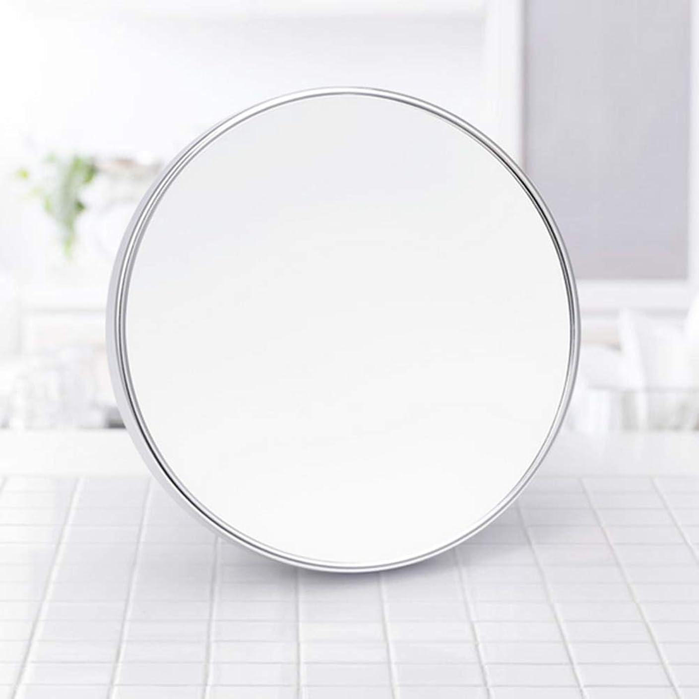 助手批判的キモいLULAA 化粧鏡 メイクミラー 浴室鏡 壁掛け式 3倍拡大鏡 粘着式 円形
