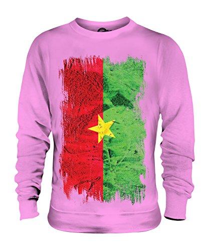 Candymix Burkina Faso Drapeau Grunge Unisexe Sweat-Shirt Homme Femme, Taille Large, Couleur Rose