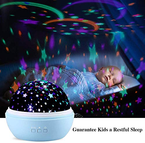 Star Lights Projector for Kids,TekHome Galaxy Night Light Projector for Bedroom,Best Christmas Birthday Gifts for 3-12 Year Old Girls Boys,360° Rotating, Blue.